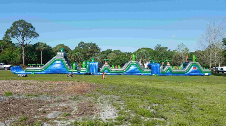 125 Foot Blue Crush Obstacle Course