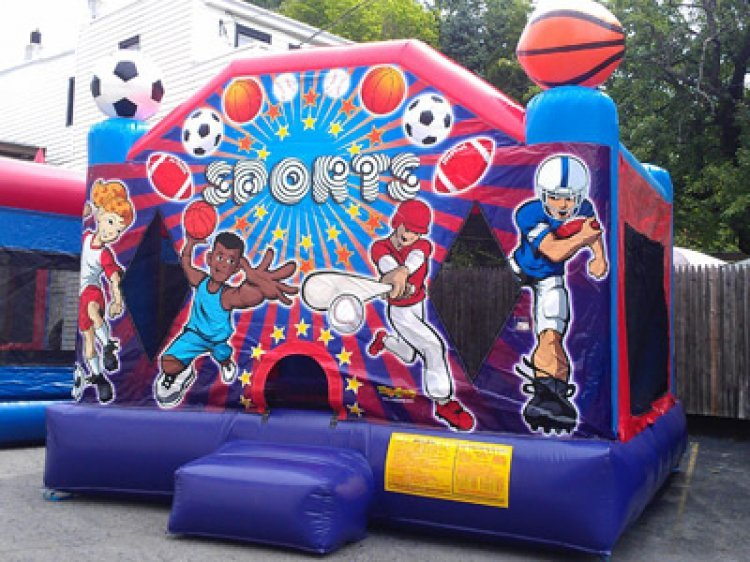 Large Sports Bounce (2 in 1, hoop inside)